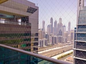 balcony child safety netting at Jumeirah Lakes Towers Dubai
