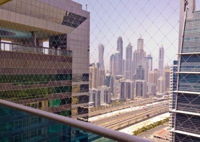 balcony child safety netting at Jumeirah Lakes Towers Dubai