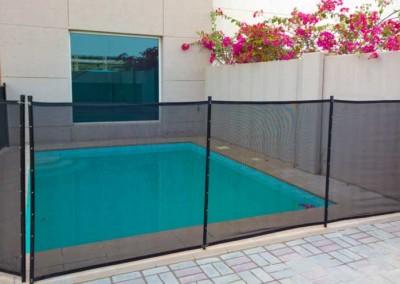 Pool safety fence Al Reef Villas, Abu Dhabi.