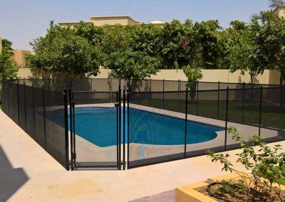 Pool safety fence at Arabian Ranches, Al Mahra