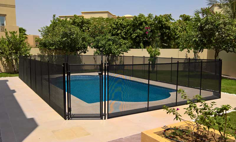 Pool safety fence swimming pool gates removable pool for Pool safety dubai
