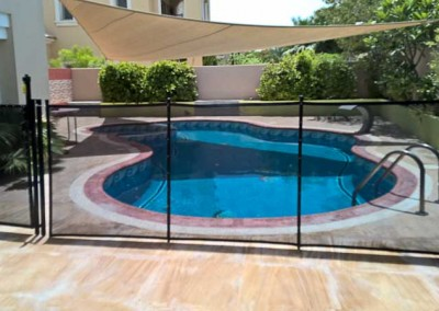 Pool safety fence at Al Vorada, Arabian Ranches, Dubai.