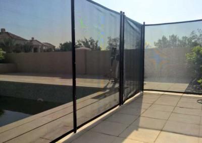 Pool safety fence at Jumeirah Golf Estates, Dubai.