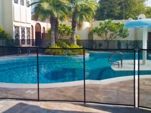 Pool safety fence at Jumeirah Dubai