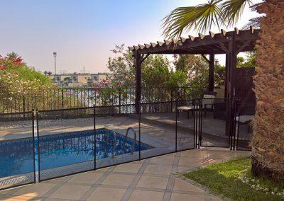 Pool safety fence, Jumeirah Islands, Dubai