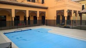 Pool safety fence at The Villa, Dubai.