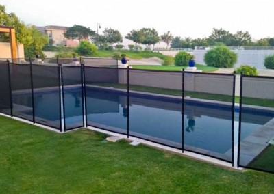 Pool safety fence at Victory Heights, Dubai.