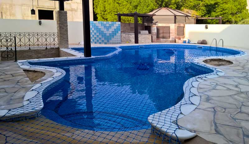 Pool nets swimming pool safety nets aqua net for Pool safety dubai