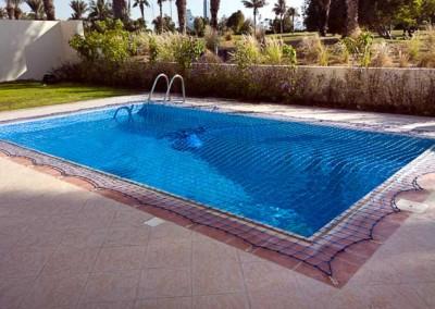 Pool safety net, Golf Creek Villas, Dubai.