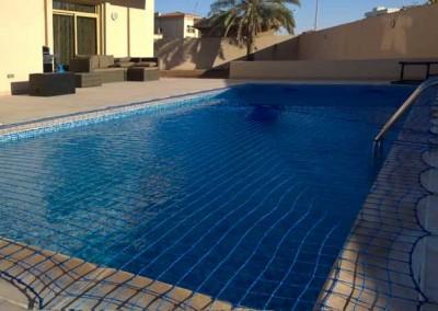 Pool safety net, Khalifa City, Abu Dhabi.