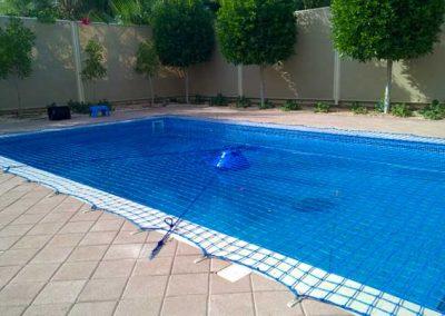 Pool safety net Green Community, Dubai.