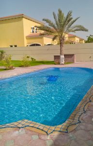 Pool safety net, Jumeirah Park, Dubai