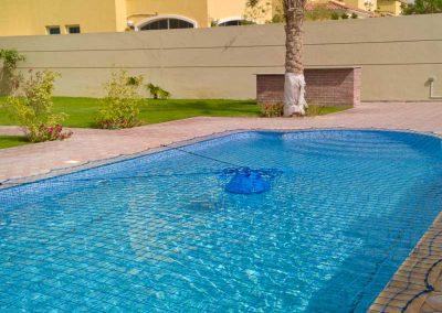 Pool safety net Jumeirah Park, Dubai.