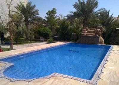 Pool safety net, Mohamed bin Zayed City, Abu Dhabi.