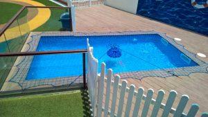 Pool safety net Safari Kid Nursery school in Satwa, Dubai.