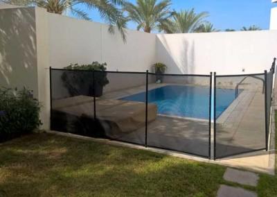 Pool safety fence Al Sufouh, Dubai.