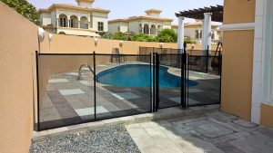 Pool safety fence, the Villa, Dubailand
