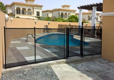 Pool safety fence, the Villa, Dubailand