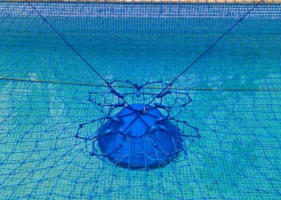 Pool safety net CTS - Central Tensioning System.
