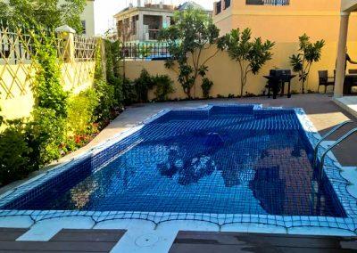 Pool safety net, the Villa, Dubailand
