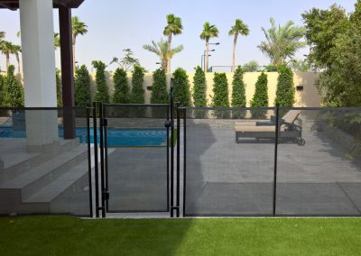 Pool access safety barrier, Dubailand