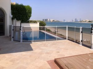 Swimming pool safety fence on Palm Jumeirah