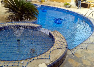 Pool safety net, multi level, fountain, Barsha