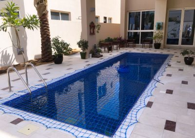Swimming pool safety net installed at Jebel Ali