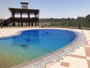 Pool safety net at Khawaneej, Dubai